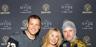"""The Bachelor"" Couple Colton Underwood and Cassie Randolph at Hyde Lounge at T-Mobile Arena in Las Vegas"