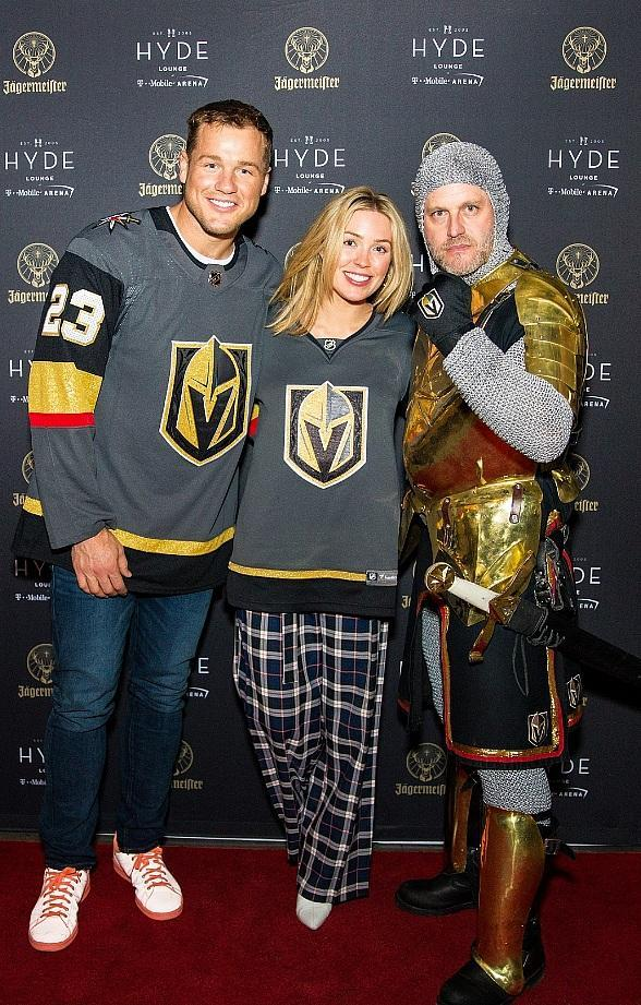 """""""The Bachelor"""" Couple Colton Underwood and Cassie Randolph at Hyde Lounge at T-Mobile Arena in Las Vegas"""