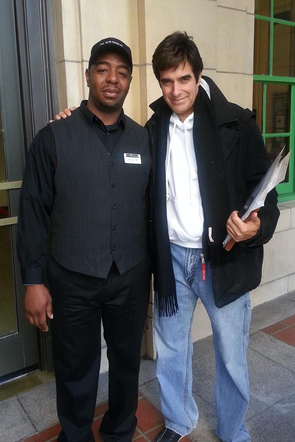 Magician David Copperfield Visits The Mob Museum