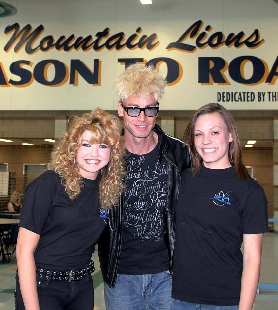 Murray with members of the Renaissance Club at Sierra Vista High School