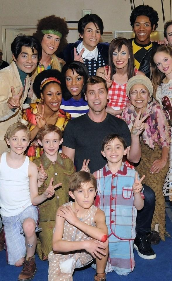 Lance Bass Attends The Beatles LOVE by Cirque du Soleil at The Mirage in Las Vegas