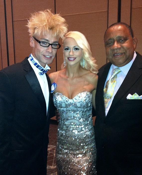 Murray and Chloe with actor Barry Shabaka Henley at 39th Annual NATAS PSW Emmy Awards in Las Vegas