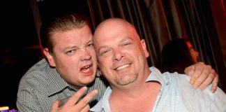 """Corey and Rick Harrison of """"Pawn Stars"""" at Marquee Nightclub in Las Vegas"""