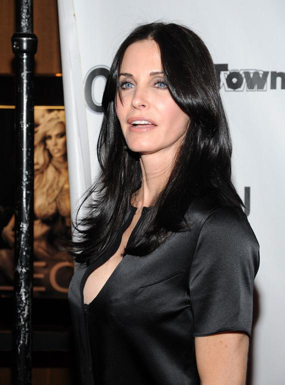"Courteney Cox of ""Cougar Town"" at Moon Nightclub"