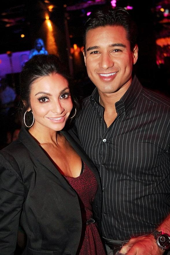 Courtney Mazza and MarioLopez at Vanity