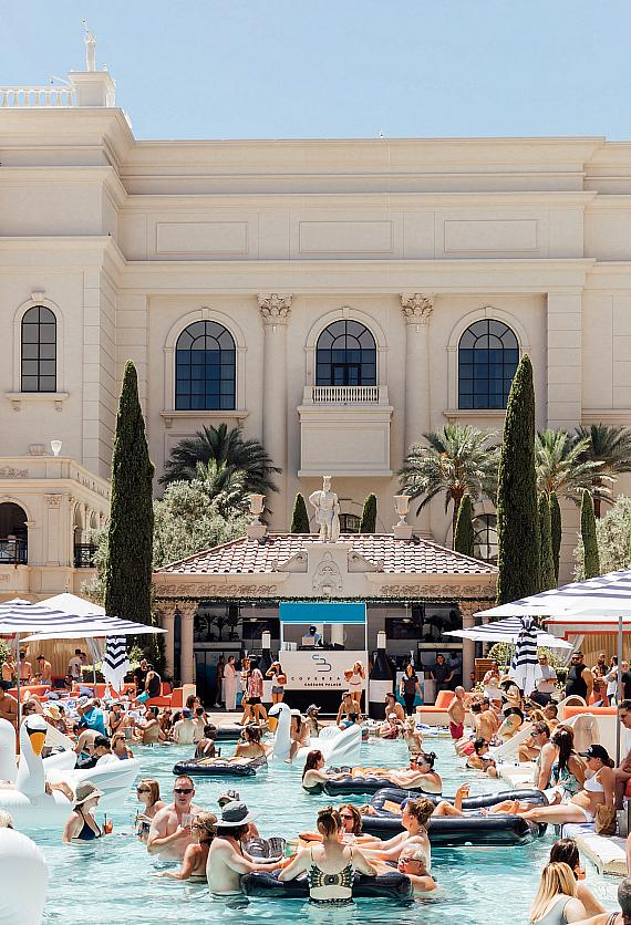 Cove Beach Celebrates the Grand Opening of its First US Summer Takeover at Caesars Palace Las Vegas