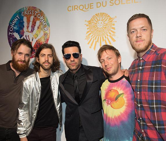 """Criss Angel and The Imagine Dragons on the Gold Carpet at Criss Angel """"HELP"""""""