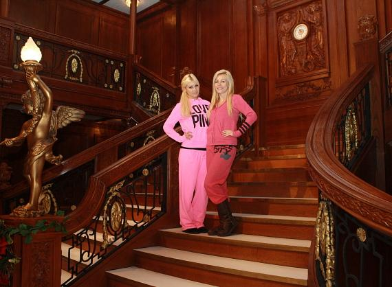 Crystal Harris and Ciara Price at Titanic: The Artifact Exhibition
