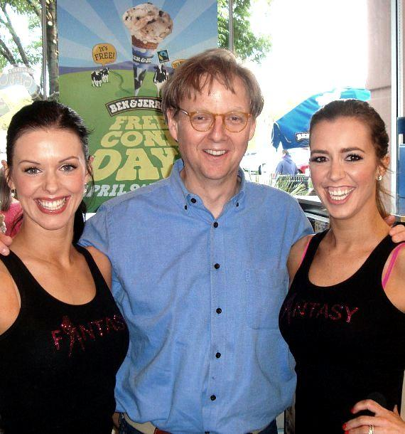 FANTASY's Tracey (left) and Mariah (right) with Mac King