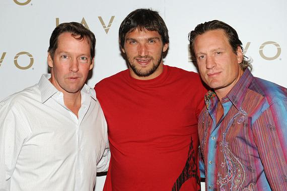DB Sweeney, Alex Ovechkin and Jeremy Roenick at LAVO