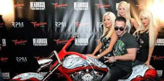 "Mike ""The Situation"" Sorrentino is presented with custom made chopper"