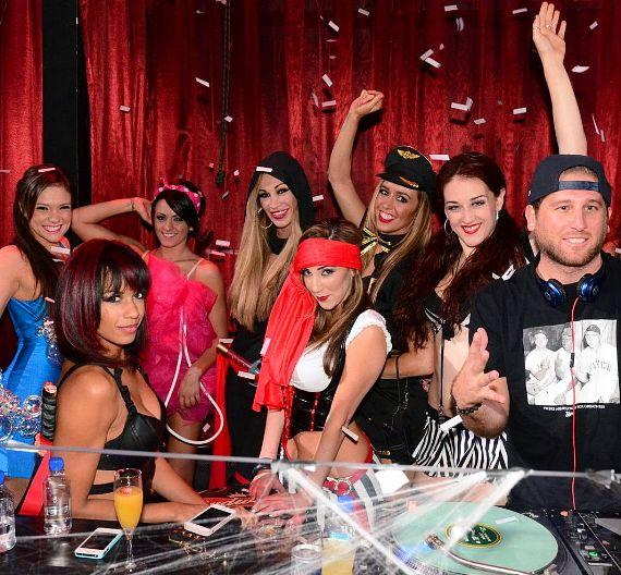 FANTASY cast with DJ Wellman at LAX Nightclub