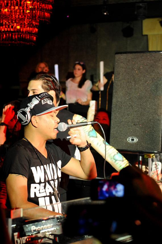 DJ Chuckie with Redfoo and Party Rock Crew at LAVO