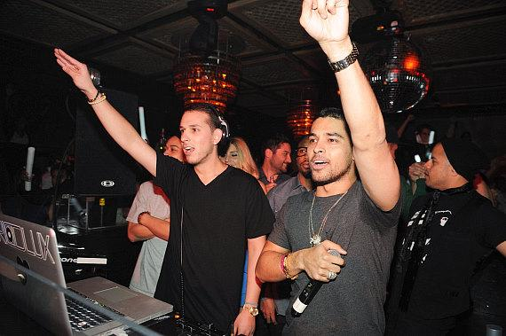 DJ D-Lux and Wilmer Valderrama at LAVO