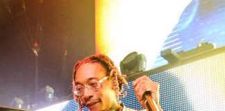 DJ Daddy Kat aka Wiz Khalifa mans the decks at TAO Nightclub in Las Vegas