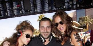 DJ Jus Jack with F*** Me I'm Famous models at WET REPUBLIC