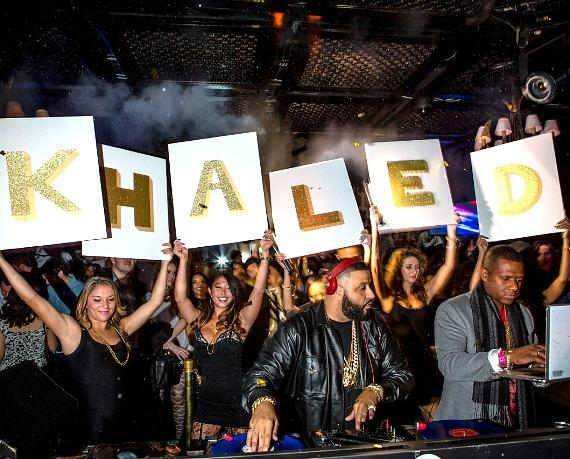 DJ Khaled at LAVO on New Year's Eve
