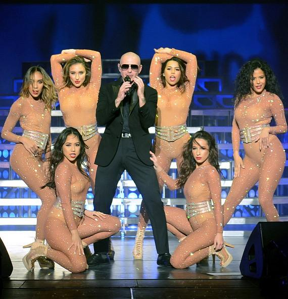 "Pitbull performs ""The Time of Our Lives Las Vegas"" at The AXIS at Planet Hollywood Resort & Casino"