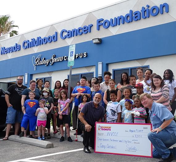 Dunkin' Donuts Las Vegas Presents $7,554 Check to Nevada Childhood Cancer Foundation