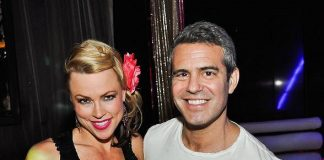 Andy Cohen with friend at REVO