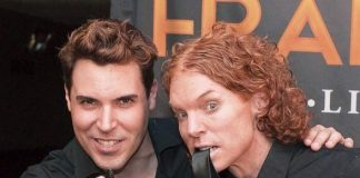 Frankie Moreno and Carrot Top at Stratosphere