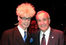 Murray SawChuck and Larry Ruvo During His Speech at Southern Wine & Spirits of Nevada Employee Appreciation Dinner
