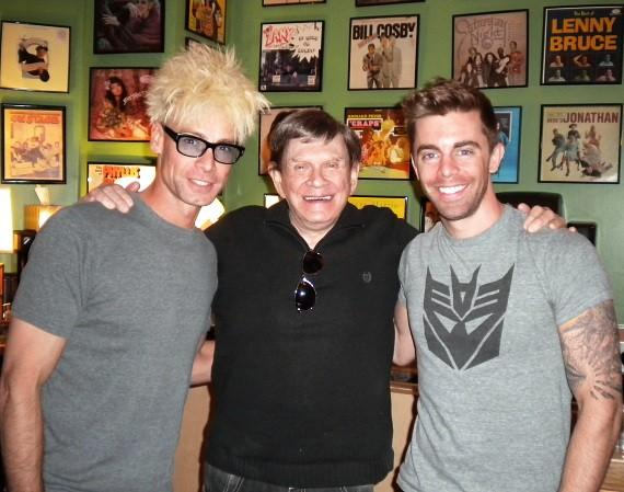 Murray and Rob with Johnny Thompson 'Magic Consultant' on SYFY 'Wizard Wars' backstage at the Tropicana Laugh Factory