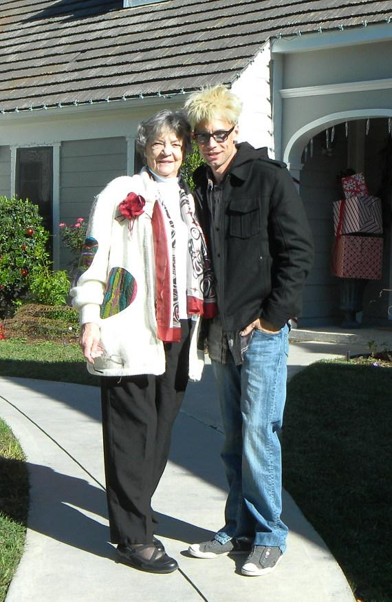 Murray and his mom Arlene on the set of Hallmark's Home & Family show at Universal Studios