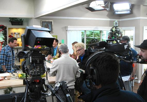 Murray during taping of Hallmark's Home & Family