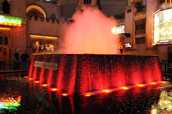 Miracle Mile Shops' Fountain Turns Red for American Heart Month