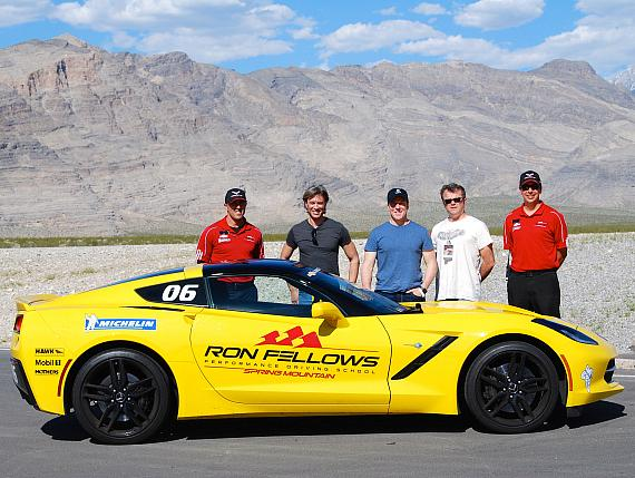 Comedian Ventriloquist Jeff Dunham Drives Corvette Stingrays at Spring Mountain Motorsports Ranch