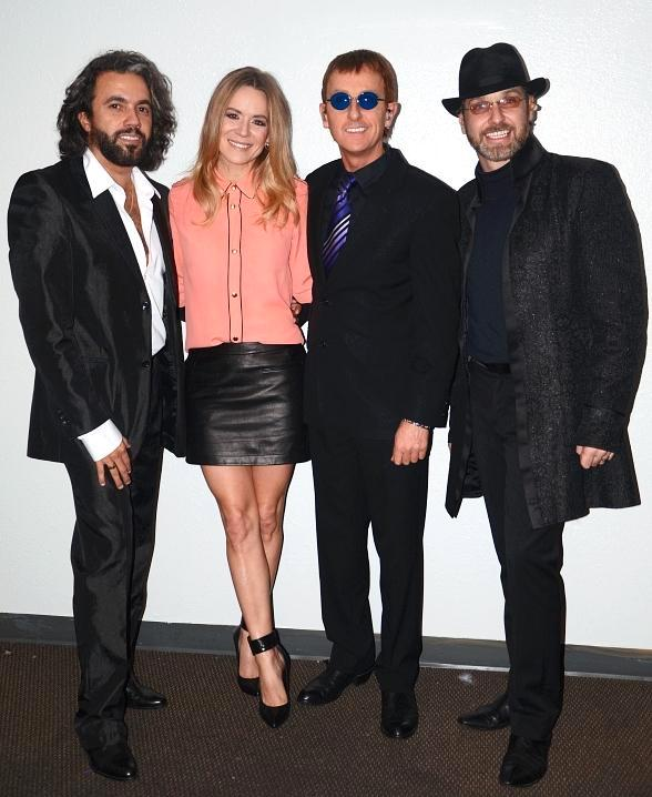 Véronic DiCaire with The Australian Bee Gees