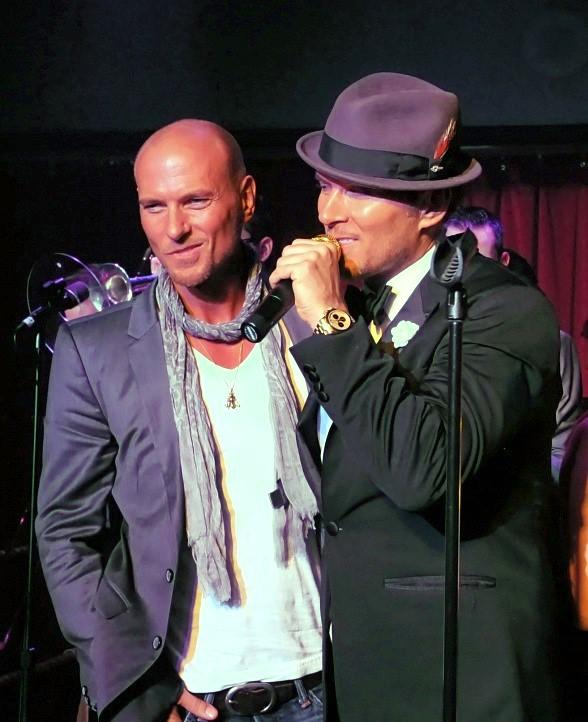 Matt Gross (r) and his twin brother Luke Goss (l) Celebrate Their Birthday at Caesars Palace in Las Vegas