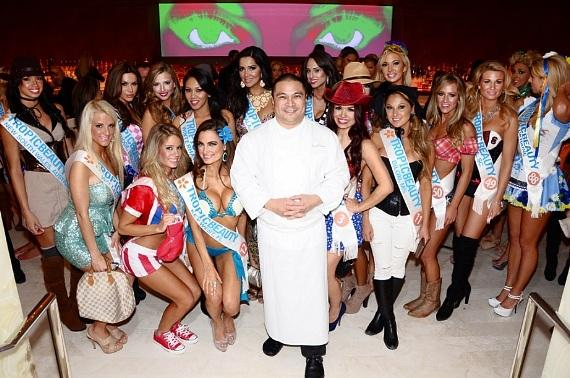 Executive Chef Joseph Elevado with Tropic Beauty Model World Finals Contestants