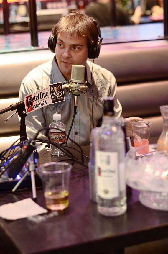Hypnotist Kevin Lepine goes 'On Air with Robert & CC' at PBR Rock Bar in Las Vegas