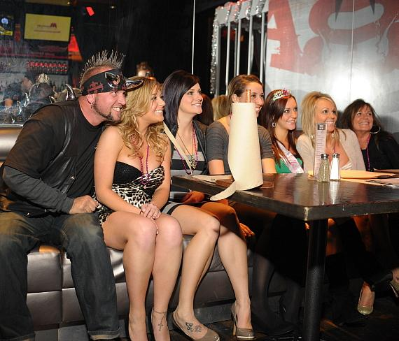 Horny Mike with guests at PBR Rock Bar