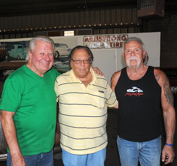 Chopper Builder, Paul Sr. of OCC (right) with renowned car collector Michael Dezer (center) and TV & Film car builder Jay Ohrberg (left) at Michael Dezer Presents Hollywood Cars Museum by Jay Ohrberg in Las Vegas