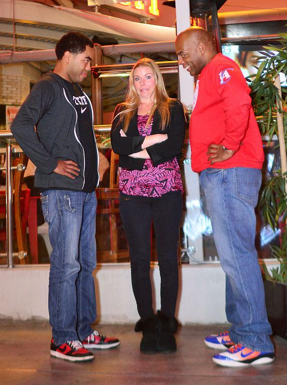 Robert Blasi, Mal Hall, Alonzo Bodden and Christina
