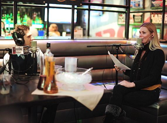 "Mike Hammer talks with Christina ""CC"" Christensen at PBR Rock Bar"