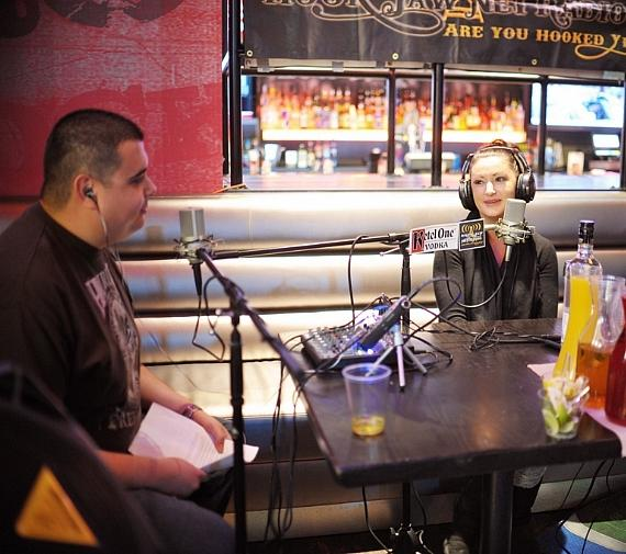 Hal Sparks goes 'On Air with Robert & CC' at PBR Rock Bar in Las Vegas