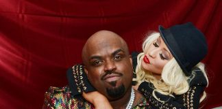 Christina Aguilera with CeeLo Green at Planet Hollywood Resort & Casino
