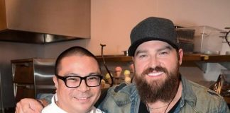 Zac Brown Band Dines at Andrea's