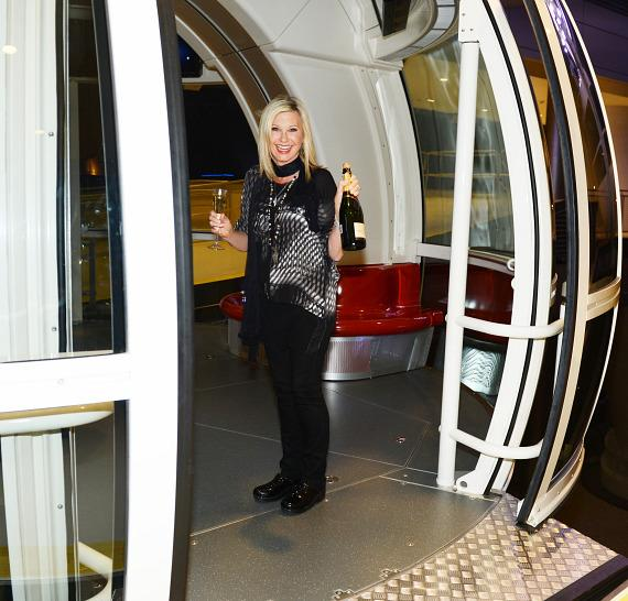 Olivia Newton-John enters The High Roller at The LINQ in Las Vegas
