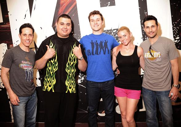 Jeff Leibow, Rob Marnell, and Jason Martinez from Jersey Boys with Robert & CC at Rockhouse