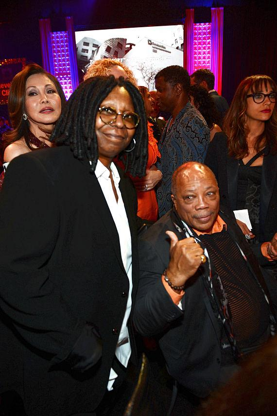 Actress Whoopi Goldberg and record producer Quincy Jones attend the 17th annual Keep Memory Alive 'Power of Love Gala' benefit for the Cleveland Clinic Lou Ruvo Center for Brain Health