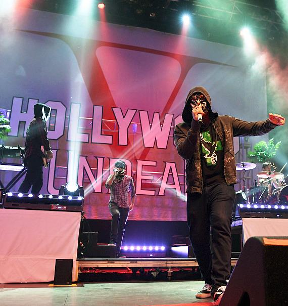 Hollywood Undead Performs at Palms Casino Resort; Races with Fans at Pole Position Raceway