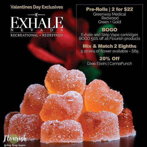 When It Come to Love There Are No Rules… This Valentine's Day Fall in Love with Exhale Nevada Quality Gifts
