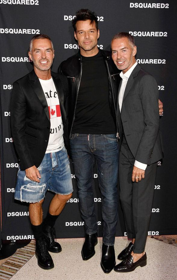 Dean & Dan Caten and Ricky Martin Celebrate DSQUARED2 Opening at The Shops at Crystals with Melody Sweets, Tyson Beckford, Carrot Top, Frank Marino, Ricardo Laguna, Tenors of Rock and more