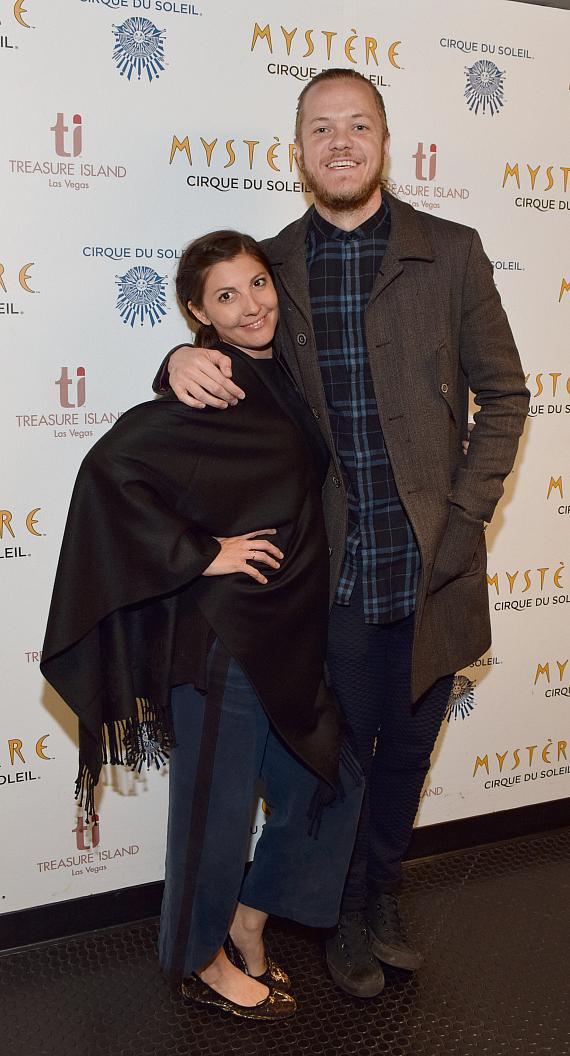 Dan Reynolds and his wife Aja Volkman at Mystere by Cirque du Soleil