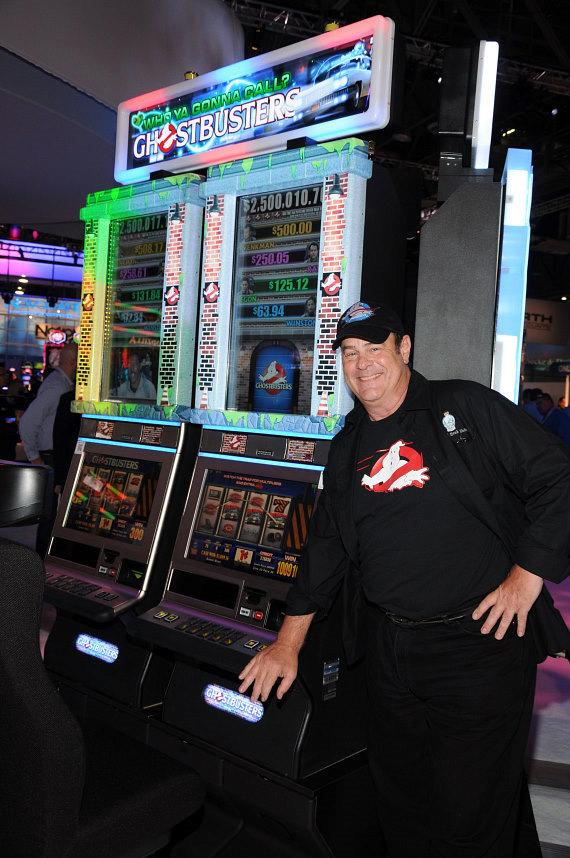 Dan Aykroyd Demos IGT's New Ghostbusters Slot Machine at Global Gaming Expo 2011